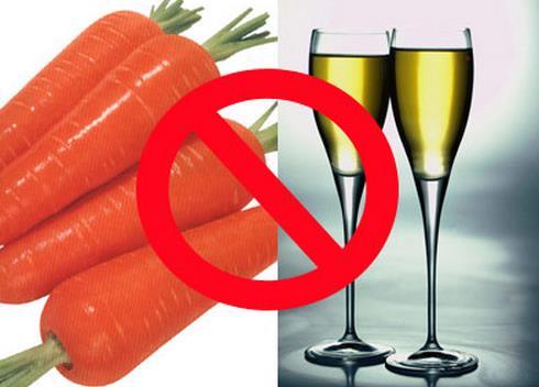 吃胡萝卜能喝酒吗胡萝卜与酒同食的危害